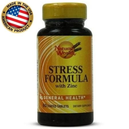 Multivitamínico Stress Formula com Zinco- (60 caps) -  Natural Wealth