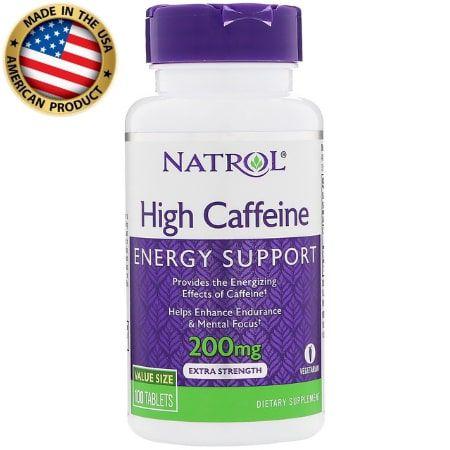 High Caffeine - 200mg - (100 tabs) - Natrol