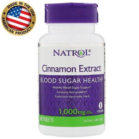 Cinnamom Extract - 1000mg - (80 tablets) - Natrol