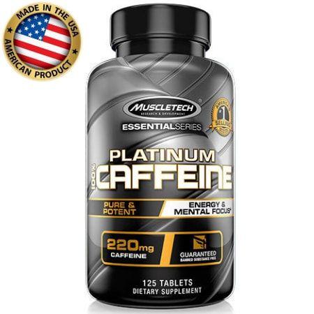Platinum 100% Caffeine - 220mg - (125 tabs) - Muscletech