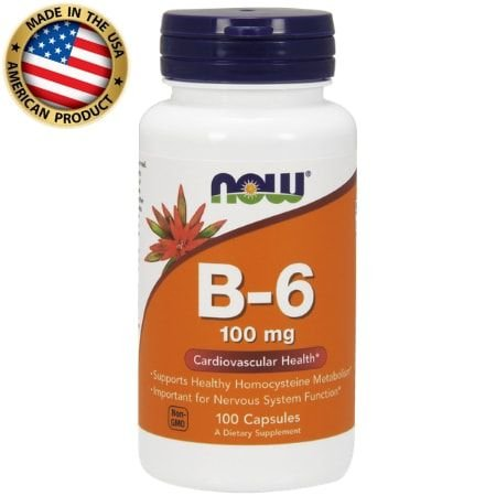 Vitamina B6 - 100mg - (100 caps) - Now Sports