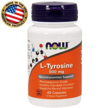 L-Tirosina 500mg - (60 caps) - Now Sports