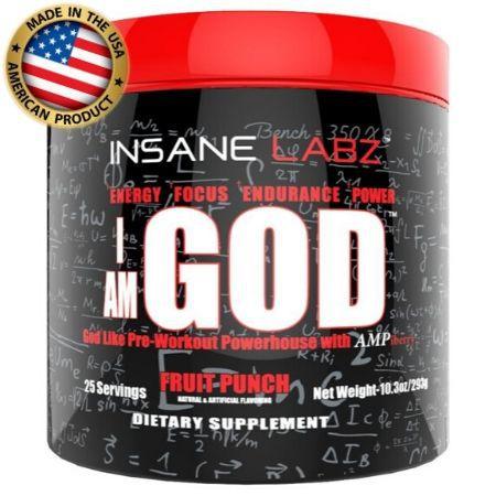 I Am God - Pré treino - (25 doses) -  Insane Labz