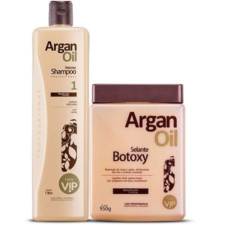 Shampoo Anti Resíduo Intense Argan Oil 1l + Argan Oil Botoxy Selante 950g