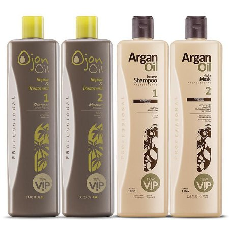 Argan Oil Escova Progressiva New Vip + New Vip Ojon Oil Repair Reconstrução Instantânea