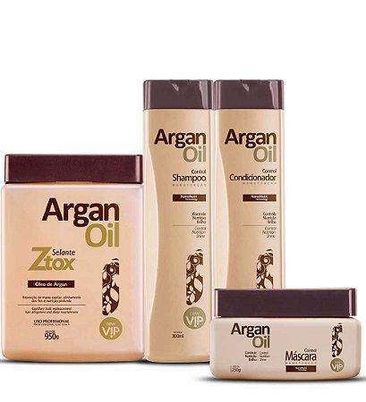 Combo Vip Ztox Selante 950g + Kit Completo Manutenção Argan Oil