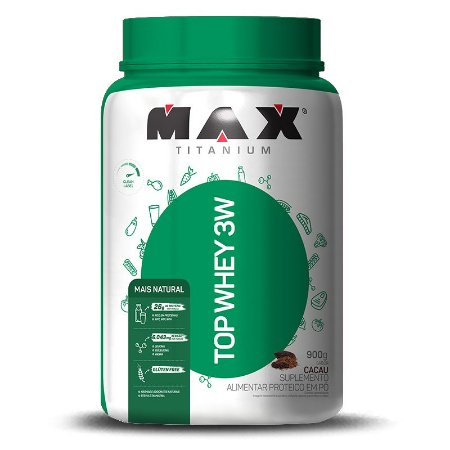 TOP WHEY 3W + NATURAL 900G - MAX TITANIUM
