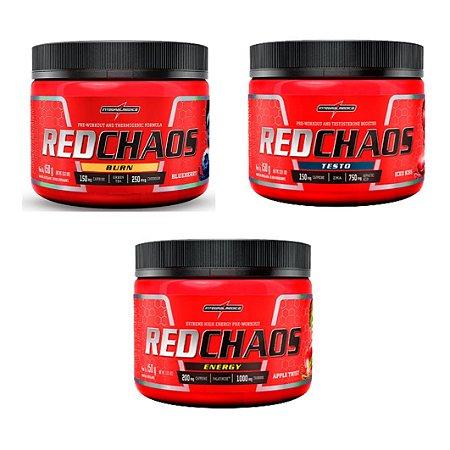 COMBO RED CHAOS ( TESTO + BURN + ENERGY ) - INTEGRALMEDICA