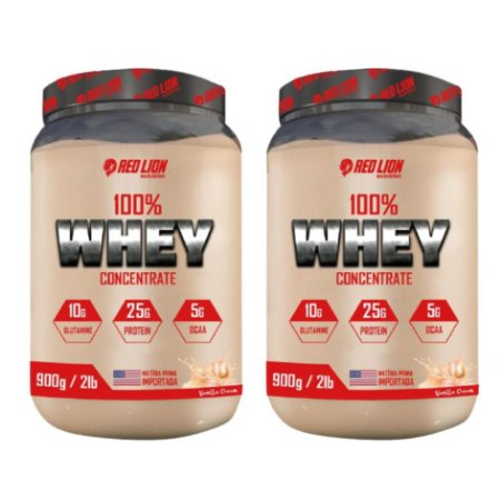 COMBO DOUBLE 100% PURE WHEY 900G - RED LION