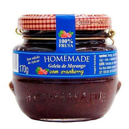 Geleia de Morango com Cranberry Homemade 170g