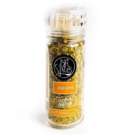 Tempero Lemon Pepper com Moedor BR Spices 70g