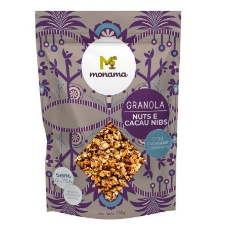 Granola Nuts e Cacau Nibs Monama 200g