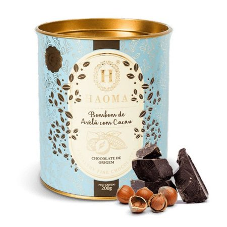 Bombom Chocolate com Avelã e Cacau Haoma 200g