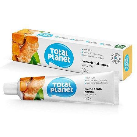 Creme Dental Vegano com Cúrcuma Total Planet 90g