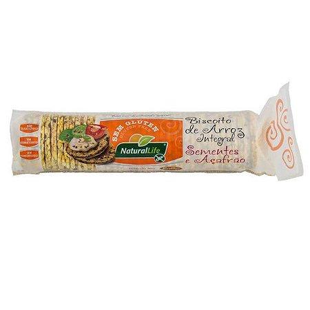 Biscoito de Arroz com Açafrão Natural Life 80g