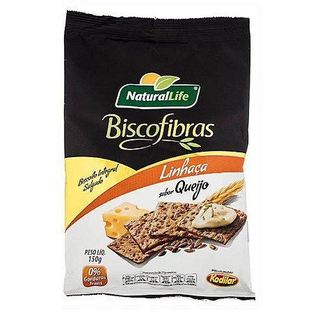 Biscoito de Cereais com Linhaça e Queijo Biscofibras 150g