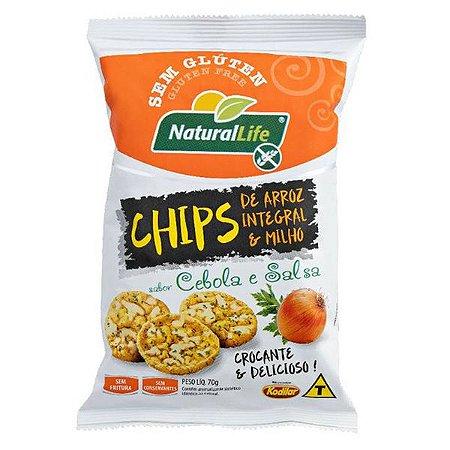 Chips de Arroz e Milho sabor Cebola e Salsa 70g