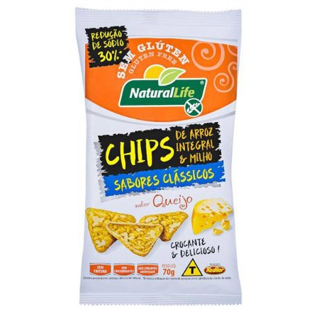 Chips de Arroz e Milho sabor Queijo 70g