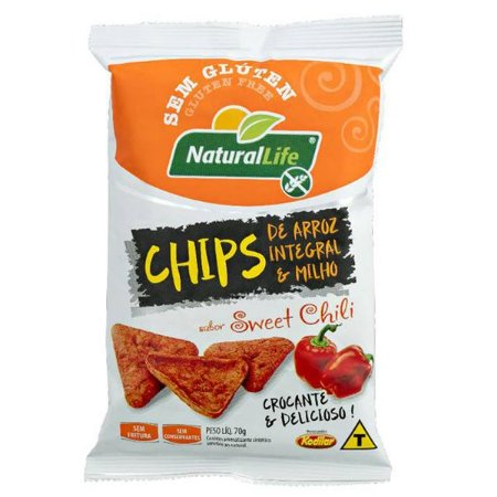 Chips de Arroz Sem Glúten sabor Sweet Chili 70g