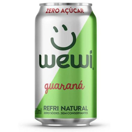 Refrigerante Orgânico Guaraná Zero Wewi Lata 350ml