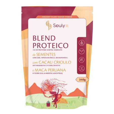 Blend Proteico com Cacau e Maca Peruana Souly 340g