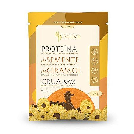 Proteína Semente de Girassol Crua sachê Souly 34g