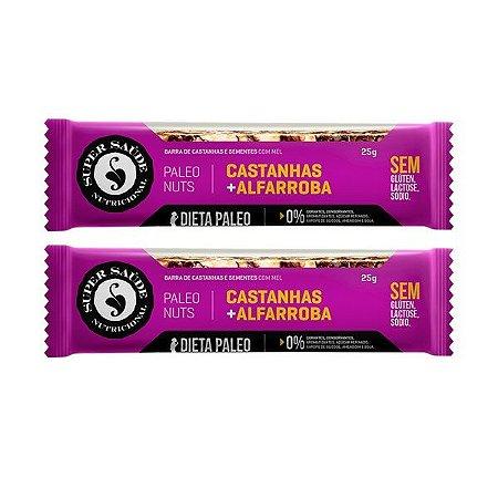 Barra de Nuts Paleo Castanhas + Alfarroba - Caixa com 2 barras - 50g