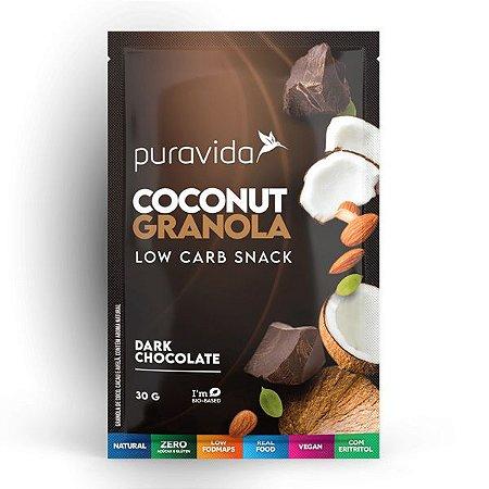 Granola de Coco Dark Chocolate sachê Pura Vida 30g