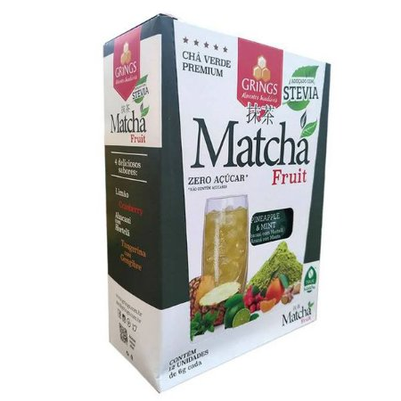 Matchá Chá Verde sabor Abacaxi Grings cx 12 un