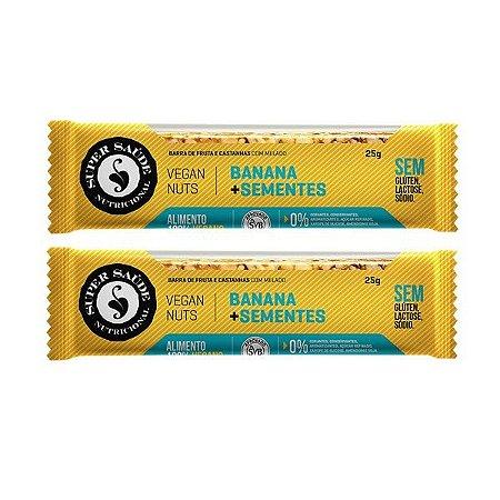 Barra Vegana Banana + Sementes - Caixa com 2 barras - 50g