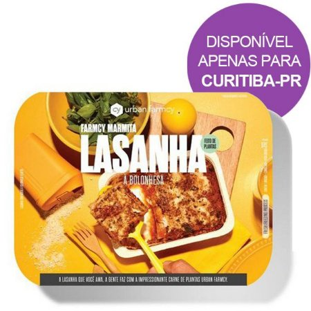 Lasanha Bolonhesa Marmita Plant Based Urban Farmcy 390g