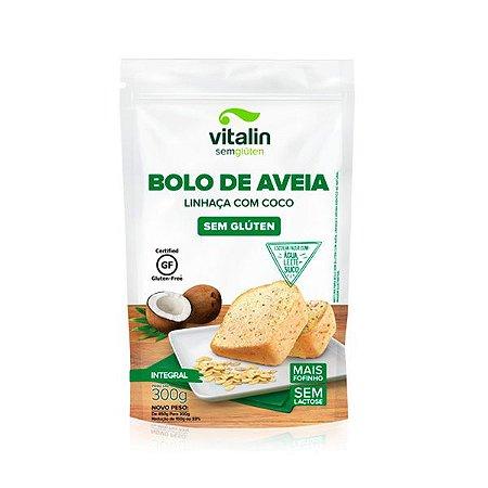 Bolo de Aveia com Linhaça e Coco - Sem Glúten 450g