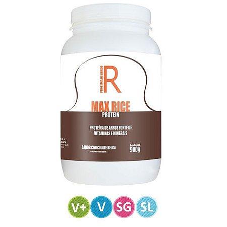 Proteína Vegetal Max Rice Protein sabor Chocolate Belga - 900g