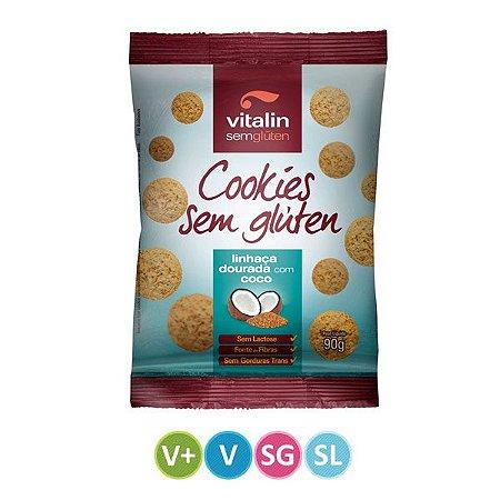 Cookies Sem Glúten sabor Linhaça com Coco