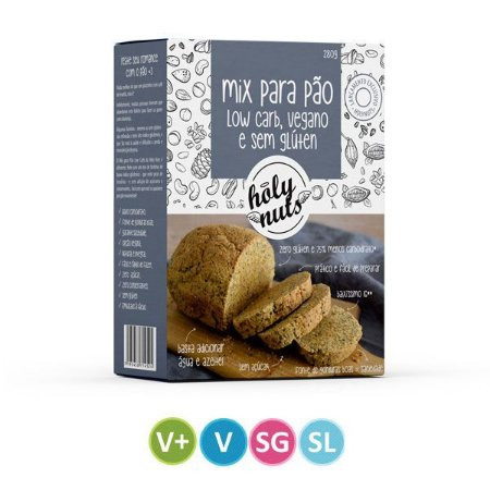 Mistura para Pão Low Carb Holy Nuts - 200g