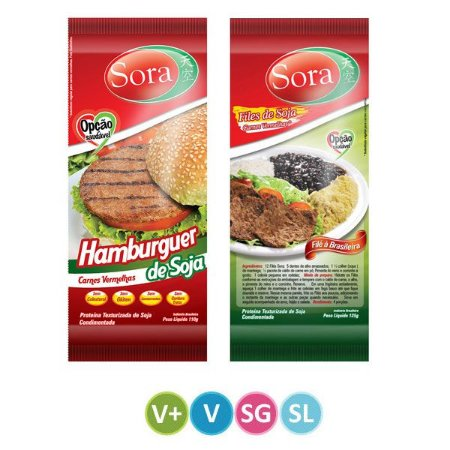Hambúrguer de Soja + Filé de Soja Carne Vermelha