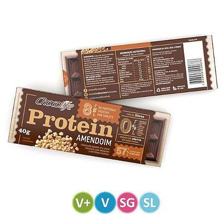 Tablete de Proteína Vegetal Amendoim Chocolife 40g