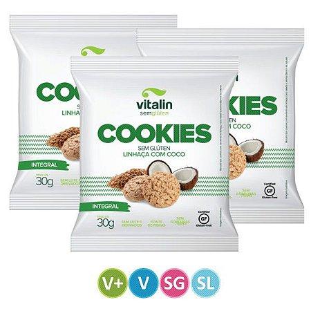 Cookies Sem Glúten Linhaça com Coco