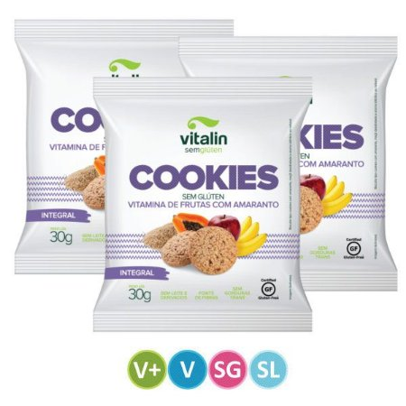 Cookies Sem Glúten Vitamina de Futas
