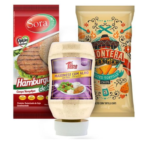 Kit Hamburguer Tex Mex Vegetariano