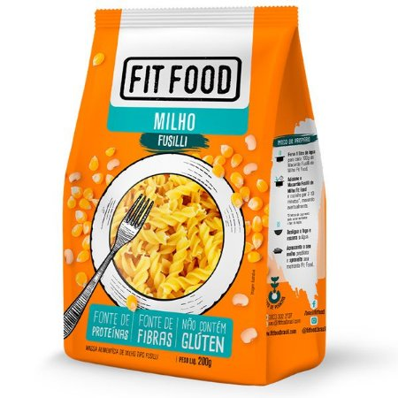 Fusilli de Milho Sem Glúten Fit Food 200g