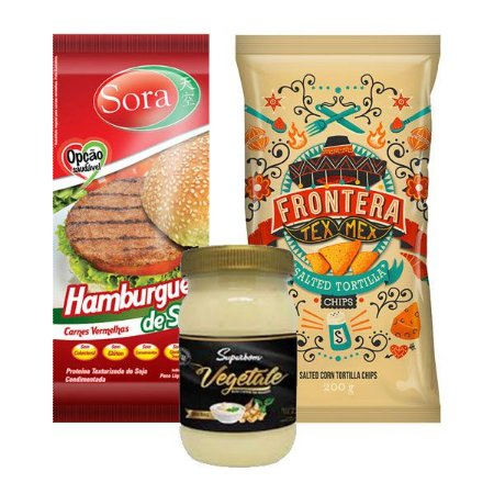 Kit Hamburguer Tex Mex Vegano
