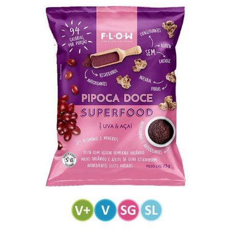 Pipoca Doce Superfood Uva & Açaí FLOW
