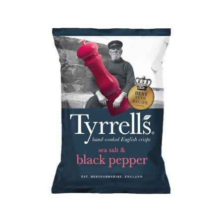 Batata Chips com Sal e Pimenta Tyrrells