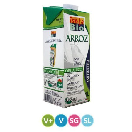 Leite de Arroz Orgânico Isola Bio 1 litro