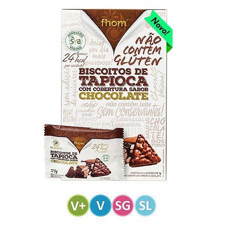 Biscoito de Tapioca Cobertura de Chocolate Fhom 60g