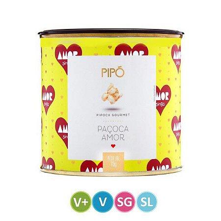 Pipoca sabor Paçoca Amor Pipó lata 70g