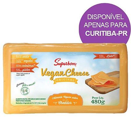 Queijo Vegano sabor Cheddar Superbom 480g