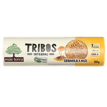 Biscoito Orgânico sabor Granola e Mel Tribos 130g