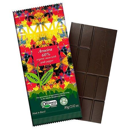 Chocolate Orgânico Pimenta Rosa AMMA Caixa 6 un